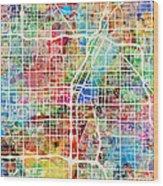 Las Vegas City Street Map Wood Print