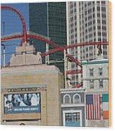 Las Vegas - New York New York Casino - 12128 Wood Print