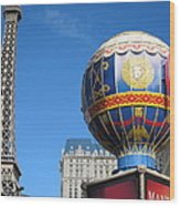 Las Vegas - Paris Casino - 12127 Wood Print