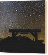 Last Dollar Gate And Milky Way Starry Wood Print