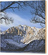 Laurel Mt And Convict Lake Sierra Wood Print