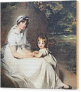 Lawrence's Lady Mary Templetown And Her Eldest Son Wood Print