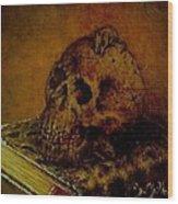 Le Livre Des Morts Wood Print by Guillaume Bruno