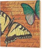 Le Papillon 3 Wood Print