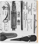 Leeuwenhoek: Microscope Wood Print