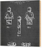 Lego Toy Figure Patent - Dark Wood Print by Aged Pixel