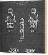 Lego Toy Figure Patent - Dark Wood Print