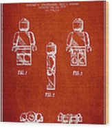 Lego Toy Figure Patent - Red Wood Print