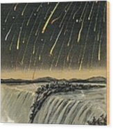 Leonid Meteor Shower Of 1833 Wood Print
