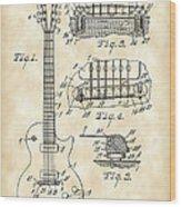 Les Paul Guitar Patent 1953 - Vintage Wood Print