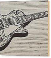 Les Paul Wood Print
