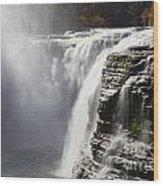 Letchworth High Falls Wood Print