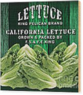 Lettuce Farm Wood Print