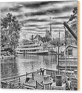 Liberty Square Riverboat Wood Print