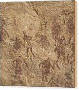 Libya. Tadrart Acacus. Representation Wood Print