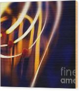 Light Bulb Filament Wood Print