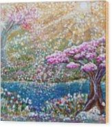 Light Of Spring Wood Print