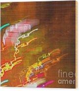 Light Painting - Paris - France  Wood Print by Francoise Leandre
