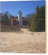 Lighthouse - 40 Mile Point Michigan Wood Print