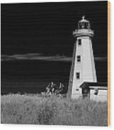 Lighthouse At North Cape On Pei Wood Print