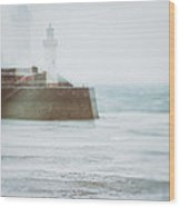 Lighthouse Wood Print by Amanda Elwell