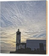 Lighthouse Maria Pia Wood Print