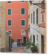 Liguria - Sori Wood Print