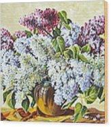 Lilac Flowers Wood Print