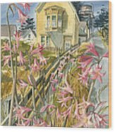 Lillies Of Mendocino Wood Print
