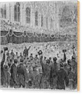 Lincoln Assassination, 1865 Wood Print