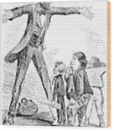 Lincoln Cartoon, 1865 Wood Print
