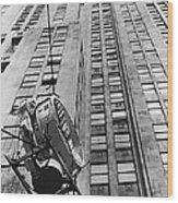 Lindbergh Beacon Hoisted Up Wood Print