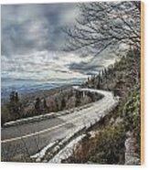 Linn Cove Viaduct During Winter Near Blowing Rock Nc Wood Print