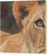 Lioness Wood Print