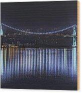 Lions Gate Bridge Wood Print by Colin McMillan