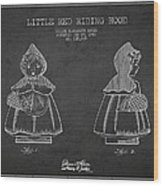 Little Red Riding Hood Patent Drawing From 1943 Wood Print