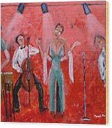 Live Jazz Wood Print by Mounir Mounir