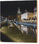 Liverpool Waterfront Wood Print