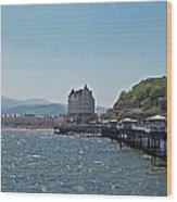 Llandudno Pier In Wales Uk On A Bright Sunny Day Wood Print