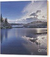 Loch Ard Wood Print