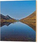Loch Leven Wood Print