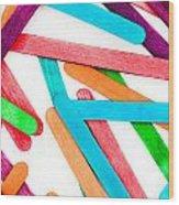 Lollipop Sticks Wood Print