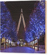 London Eye Wood Print by Stephen Norris
