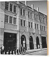 London Fire Brigade Headquarters Union Street Southwark England Uk Wood Print