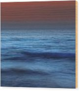 Long Exposure On Beach At Dusk Wood Print