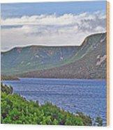 Long Range Mountains In Western Nl Wood Print
