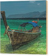 Longboat Wood Print