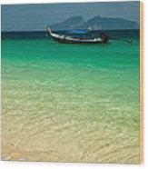 Longboat Asia Wood Print