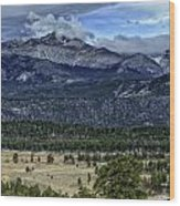 Long's Peak Wood Print by Tom Wilbert