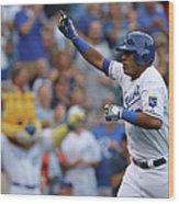 Los Angeles Dodgers V Kansas City Royals Wood Print